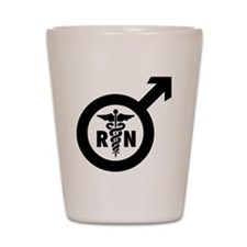 Murse Male Nurse Symbol Shot Glass