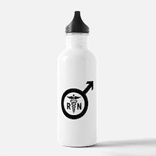 Murse Male Nurse Symbol Water Bottle