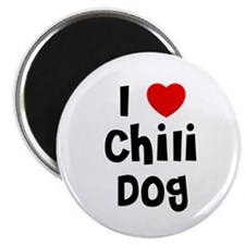 I * Chili Dog Magnet