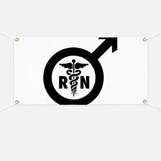 Murse Male Nurse Symbol Banner