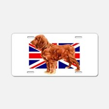 Golden Cocker Spaniel Aluminum License Plate