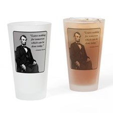 Lincoln Drinking Glass