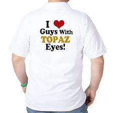 Guys With Topaz Eyes Golf Shirt