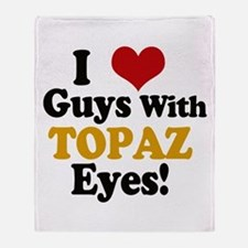 Guys With Topaz Eyes Throw Blanket