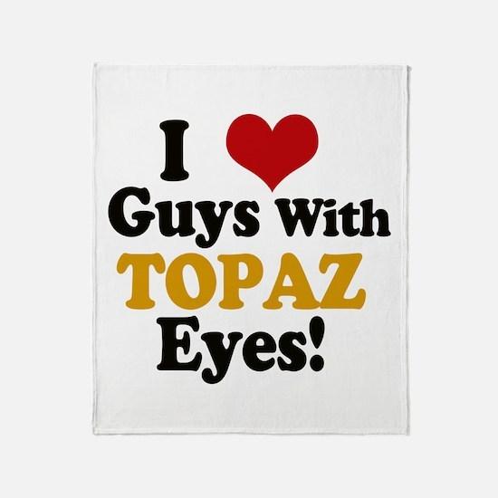 Guys With Topaz Eyes Throw Blanket