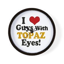 Guys With Topaz Eyes Wall Clock