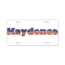 American Kaydence Aluminum License Plate