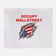 OCCUPY WALLSTREET Throw Blanket