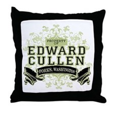 Property of Edward Cullen Throw Pillow