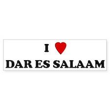 I Love Dar es Salaam Bumper Bumper Sticker