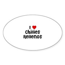 I * Chilies Rellenos Oval Decal