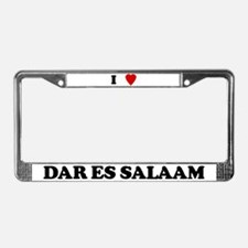 I Love Dar es Salaam License Plate Frame