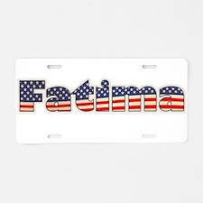 American Fatima Aluminum License Plate