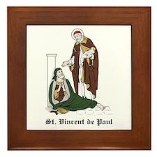 St. Vincent de Paul Framed Tile