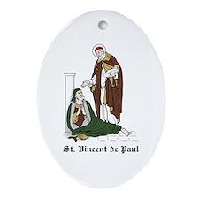 St. Vincent de Paul Oval Ornament