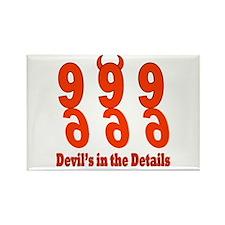 Devil's in the Details Rectangle Magnet