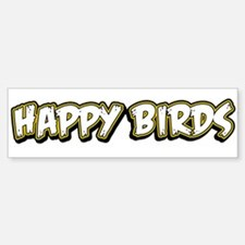 Funny Happy Birds Sticker (Bumper)