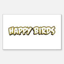 Funny Happy Birds Decal