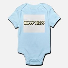 Funny Happy Birds Infant Bodysuit