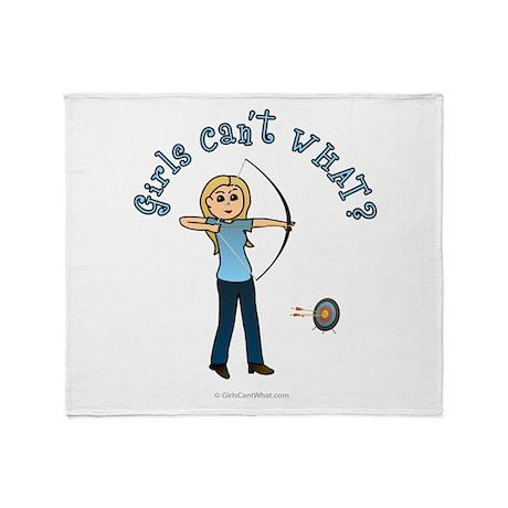Blonde Blue Archery Throw Blanket