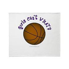 Brown/Purple Basketball Throw Blanket