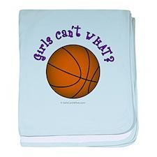 Brown/Purple Basketball baby blanket