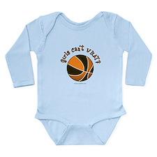 Black/Orange Basketball Long Sleeve Infant Bodysui