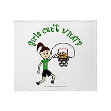 Light Green Basketball Throw Blanket