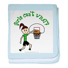 Light Green Basketball baby blanket