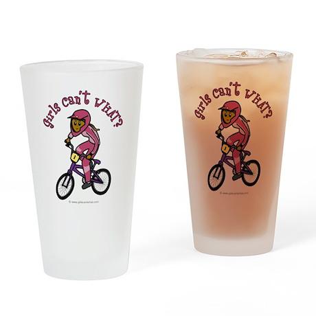 Dark Pink BMX Drinking Glass