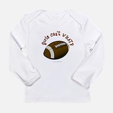 Football - Orange Text Long Sleeve Infant T-Shirt