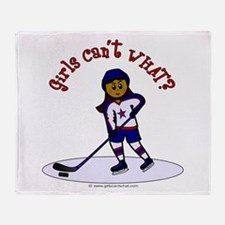 Dark Hockey Throw Blanket