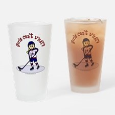 Blonde Hockey Girl Drinking Glass