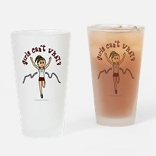 Light Red Running Drinking Glass