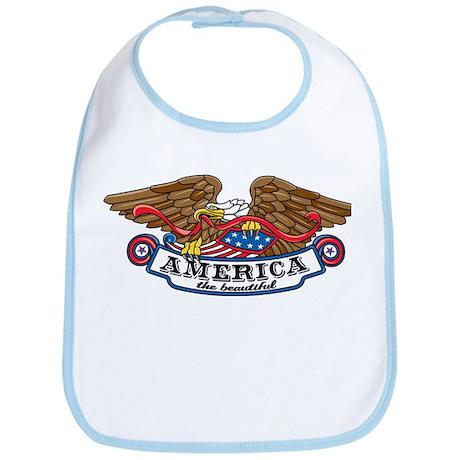 America the Beautiful Eagle Bib