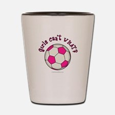Pink Soccer Ball Shot Glass