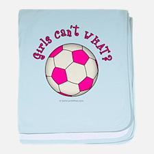 Pink Soccer Ball baby blanket