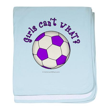 Purple Soccer Ball baby blanket