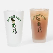 Light Green Soccer Drinking Glass