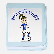 Light Blue Soccer baby blanket