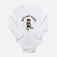 Light Red Volleyball Long Sleeve Infant Bodysuit