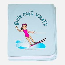 Light Water Skiing baby blanket