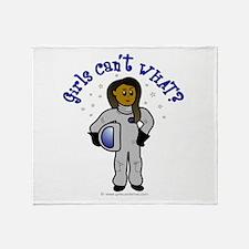 Dark Astronaut Throw Blanket
