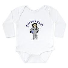 Light Astronaut Long Sleeve Infant Bodysuit