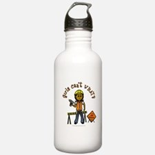 Dark Construction Worker Water Bottle