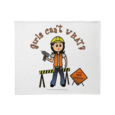 Light Construction Worker Throw Blanket