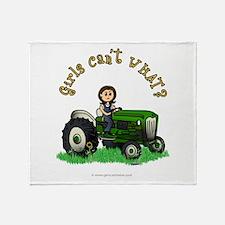 Light Green Farmer Throw Blanket