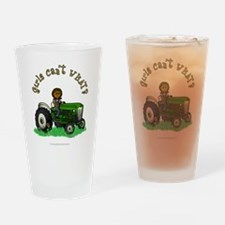 Dark Green Farmer Drinking Glass
