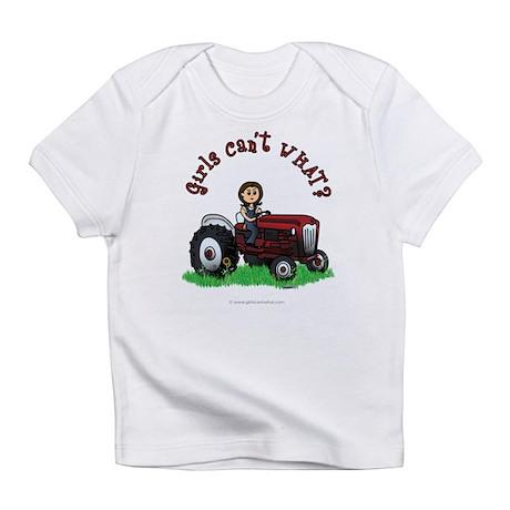 Light Red Farmer Infant T-Shirt