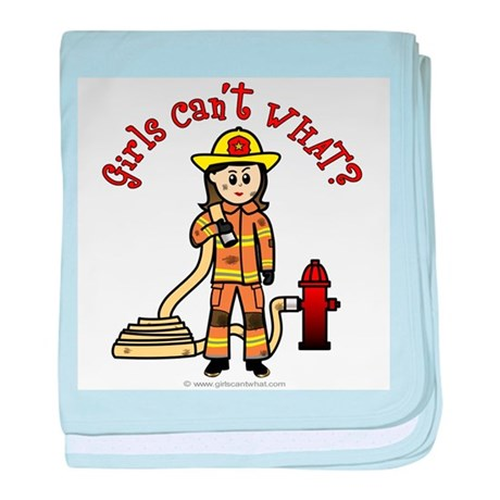 Firefighter Girl baby blanket
